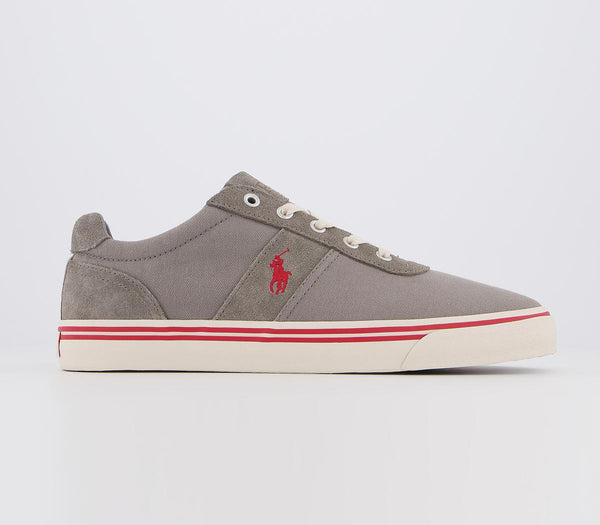 Mens Ralph Lauren Hanford Sneaker Dark Grey Red