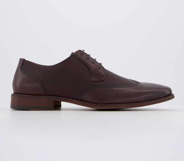 Mens Office Mike Wingcap Derby Brown Leather