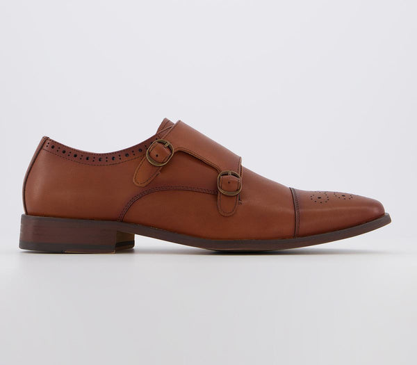 Mens Office Marcus Monk Tan Leather
