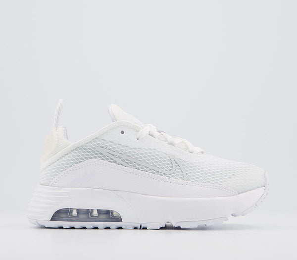 Kids Nike Air Max 2090 Ps White Black Wolf Grey Pure Platinum Trainers
