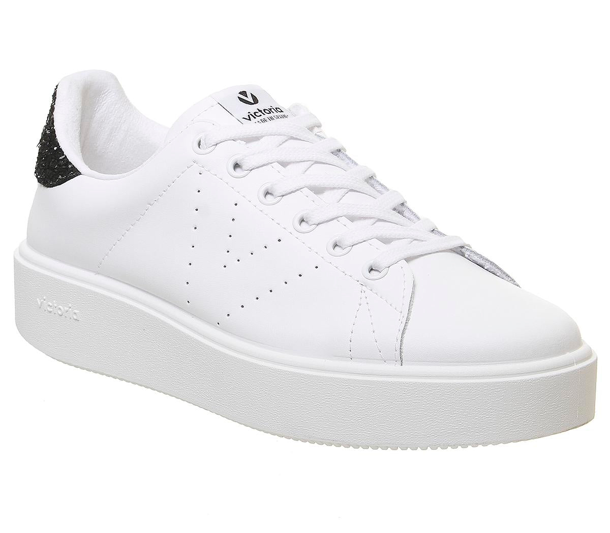 Womens Victoria Utopia White Black Glitter