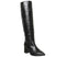 Womens Office Kali Block Heel Knee Boot Black Leather