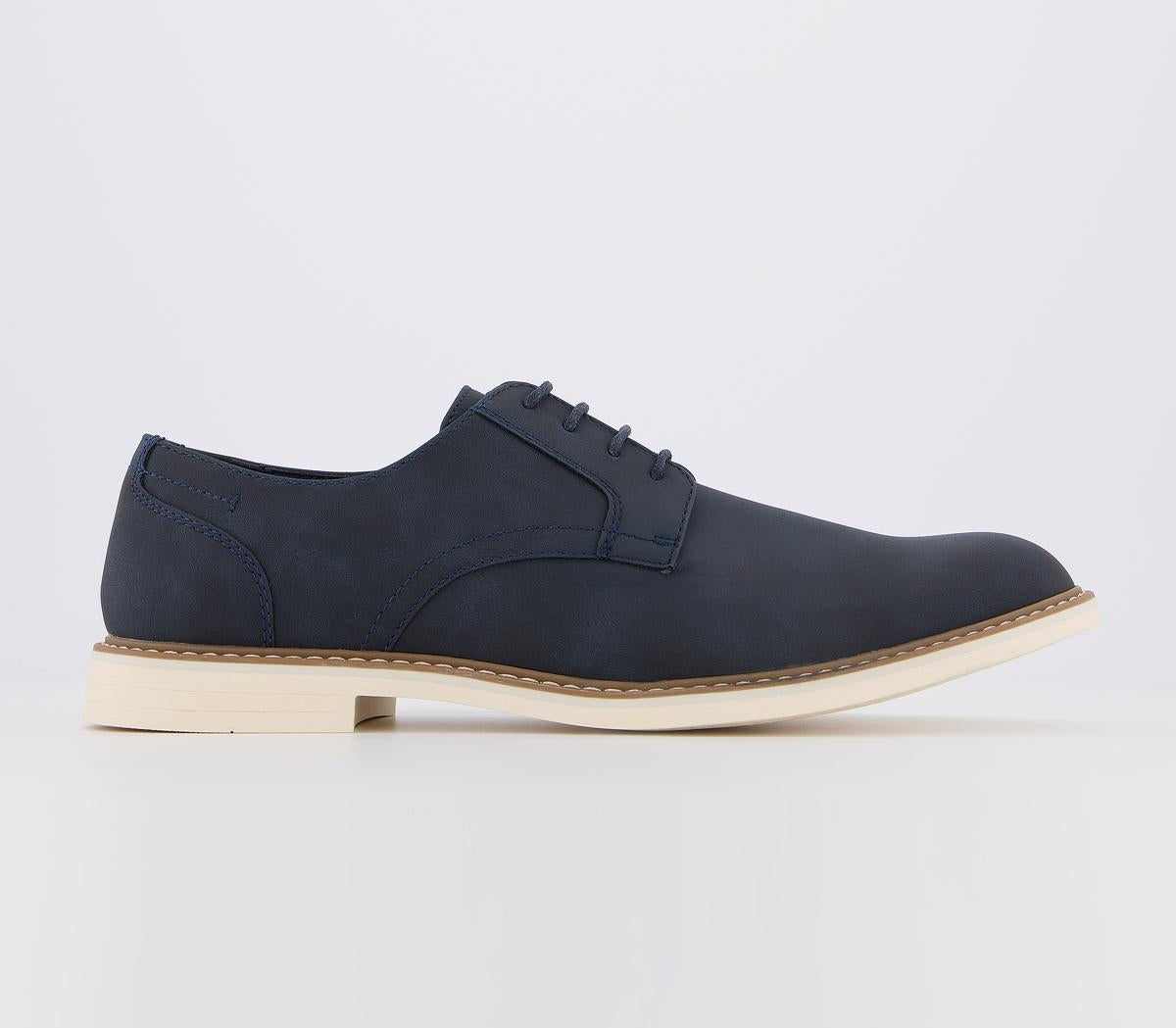 Mens Office Climb White Sole Derby Navy