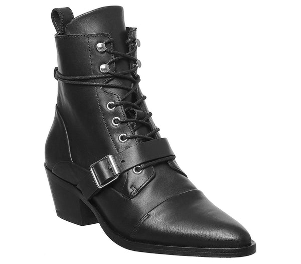 Womens All Saints Katy Lace Up Black