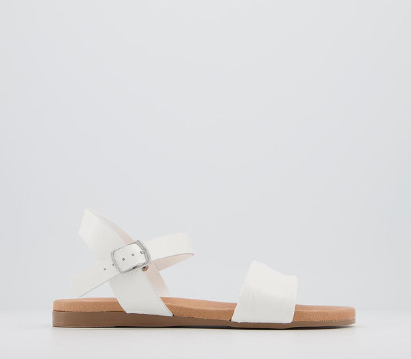 Womens Office Speciality Two Part Sandal Off White Leather