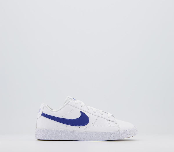 Kids ,Nike ,Blazer Low Youth ,White Astronomy Blue Trainers