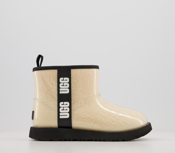 Kids UGG Classic Clear Mini ii youth Boots Natural Black