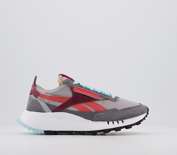 Womens Reebok Cl Legacy Grey Blue Red Trainers