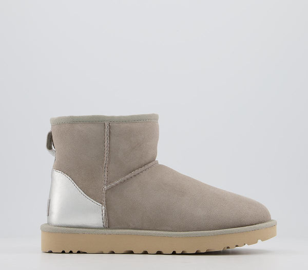 Womens UGG Classic Mini Metallic Boots Goat