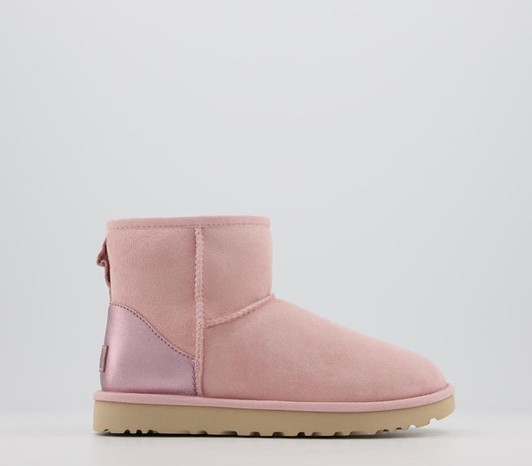 Womens Ugg Classic Mini Metallic Pink Cloud Boots