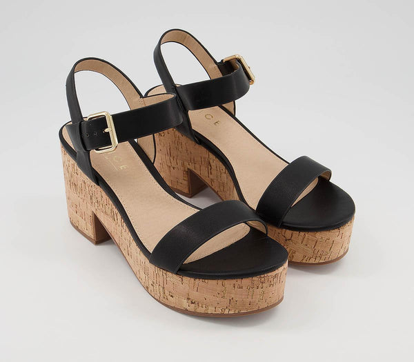 Womens Office Mimi Cork Barely There Black