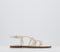Womens Office Scala Plaited Buckle Flat Sandal Off White Leather