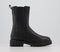 Womens Vagabond Kenova High Chelsea Boots Black Shearling Lined