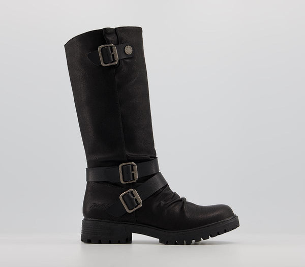 Womens Blowfish Redial Knee Boots Black Local Sheriff
