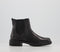 Womens Office Aim Chelsea Cleated Boot Black Leather