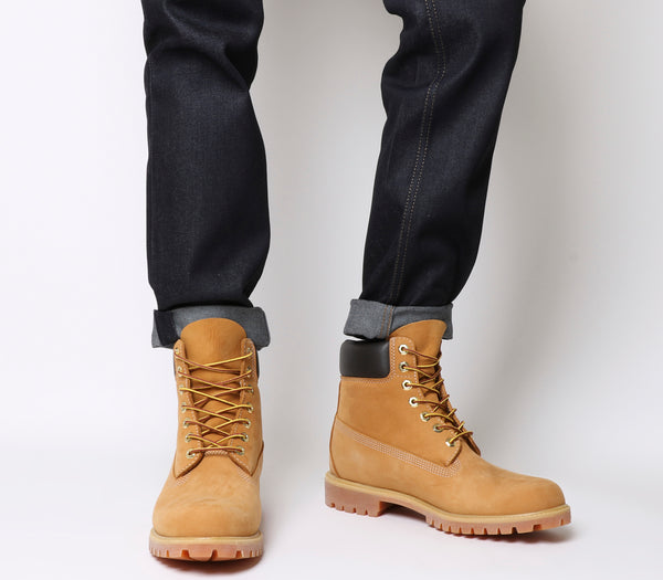Mens Timberland 6 In Buck Boots Wheat Nubuck