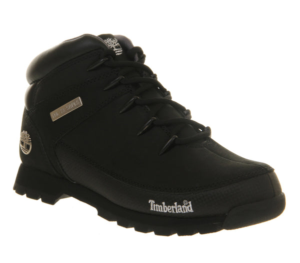 Mens Timberland Eurosprint New Black Nubuck - Size 7