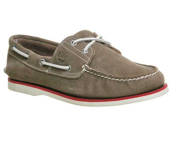Mens Timberland New Boat Shoe Grey Suede Uk Size 8