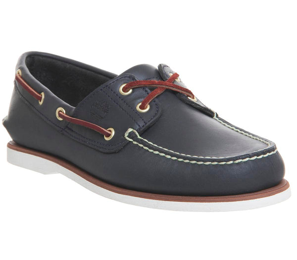 Mens Timberland New Boat Shoe Navy Leather