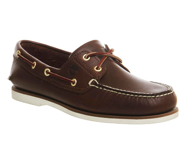 Mens Timberland New Boat Shoe Dk Brown Leather