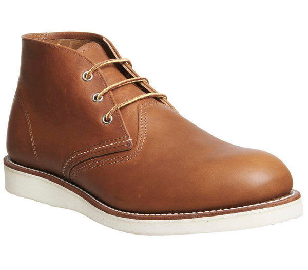 Mens Redwing Work Chukka Boot Tan Leather