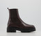 Womens Office Accuse Chunky Chelsea Boots Brown Leather