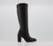 Womens Office Knowledge  Western Knee Boots Black Leather