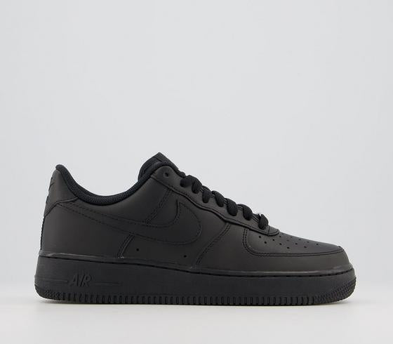 Mens Nike Air Force 1 07 Black Trainers