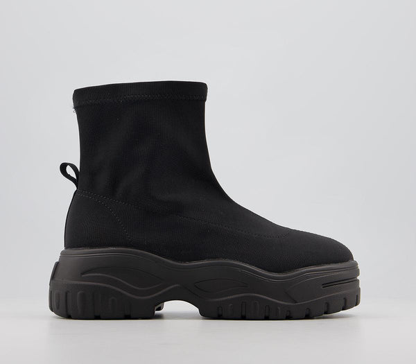 Odd sizes - Womens Raid Regina Chunky Boot Black UK Sizes R4/L3