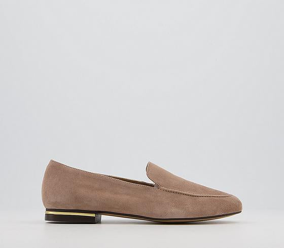 Womens Office Fia  Soft Loafers Taupe Suede