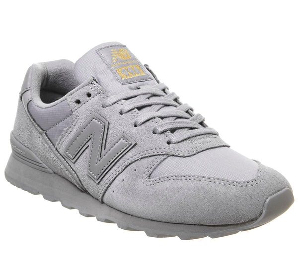 Womens New Balance 996 Silver Gold