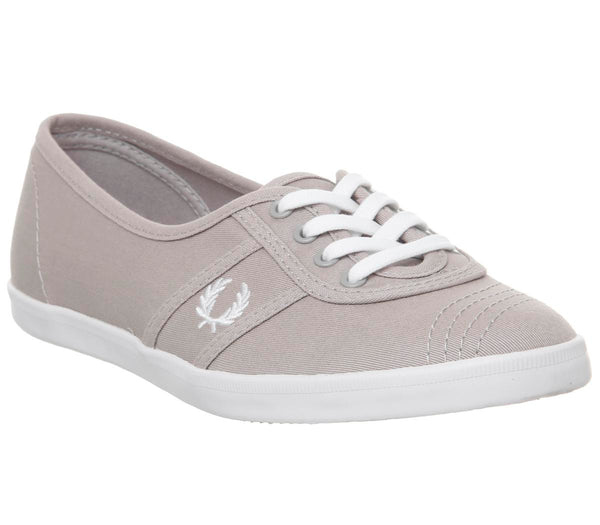 Womens Fred Perry Aubrey Silver White