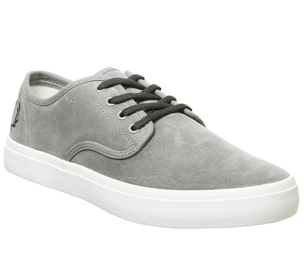 Mens Fred Perry Merton Falcon Grey Uk Size 7