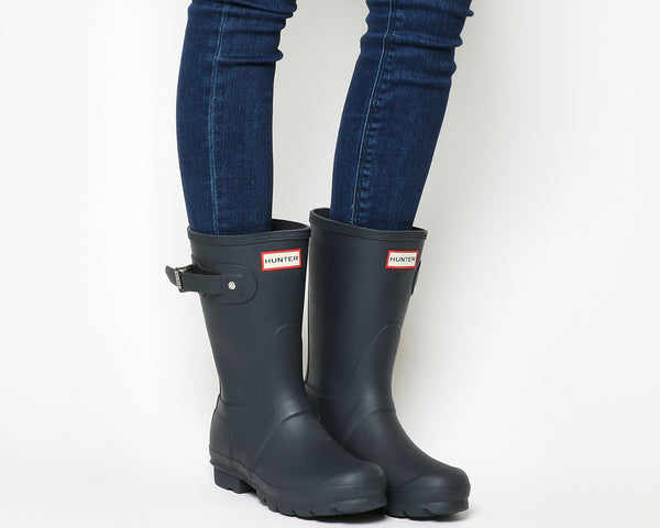 Womens Hunter Short Classic Welly Navy