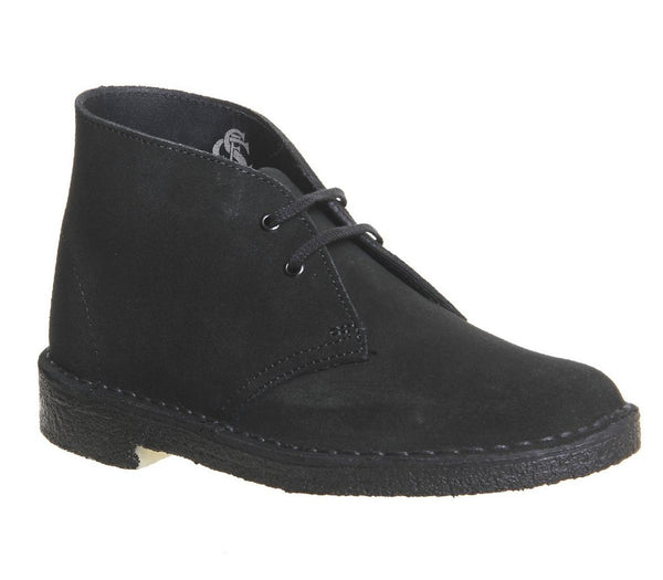 Womens Clarks Desert Boot Black Suede