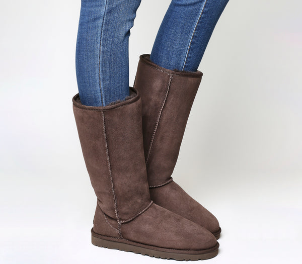 Womens Ugg Classic Tall Chocolate Uk Size 3.5