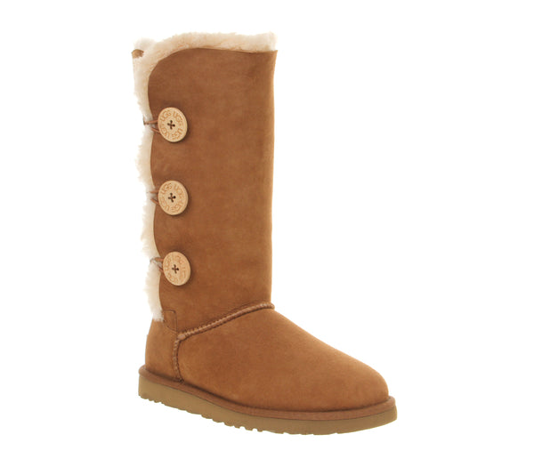 Womens Ugg Bailey Button Triplet Chestnut
