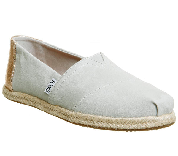 Womens Toms Seasonal Classic Slip On Grey Violet Rose Gold Rope