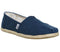 Womens Toms Seasonal Classic Slip On Washed Navy Canvas Rope Sole