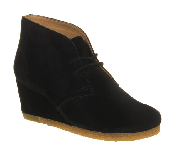 Womens Clarks Yarra Desert Boot Black Suede Uk Size 4