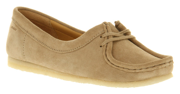 Womens Clarks Wallabee Chic Sand Suede Uk Size 6