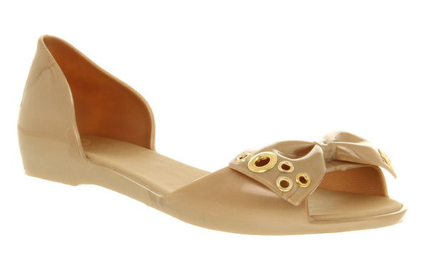 Womens Melissa Fresh Ii Peeptoe Bow Pump Gold