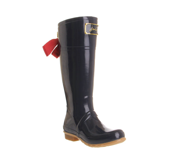 Womens Joules Evedon Welly Navy Rubber Uk Size 3