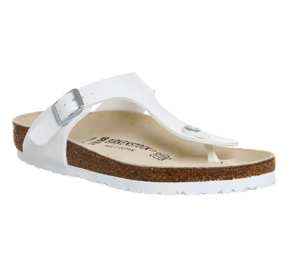 Womens Birkenstock Toe Thong Footbed White Syn Uk Size 3