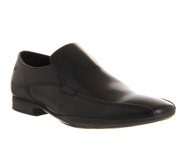 Mens Base Zodiac loafers Black Leather