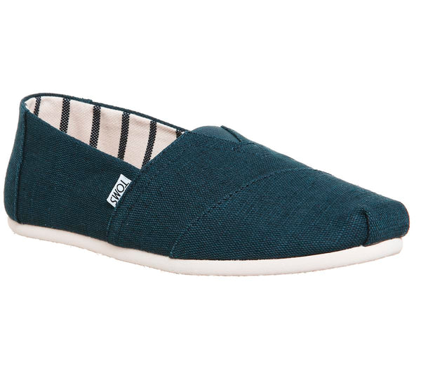 Mens Toms Classic Majolica Blue Heritage Canvas