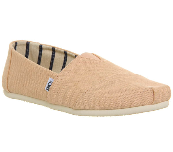 Mens Toms Classic Pale Peach Heritage Canvas