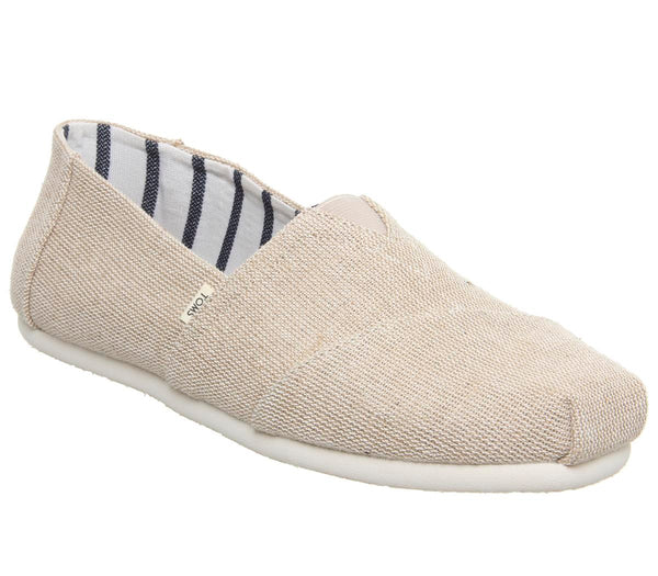 Kids Toms Youth Classics Natural Canvas Uk Size 1 Youth