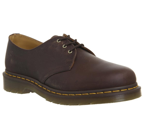 Mens Dr.Martens Dm 3 Eye Lace Shoe Gaucho Crazyhorse