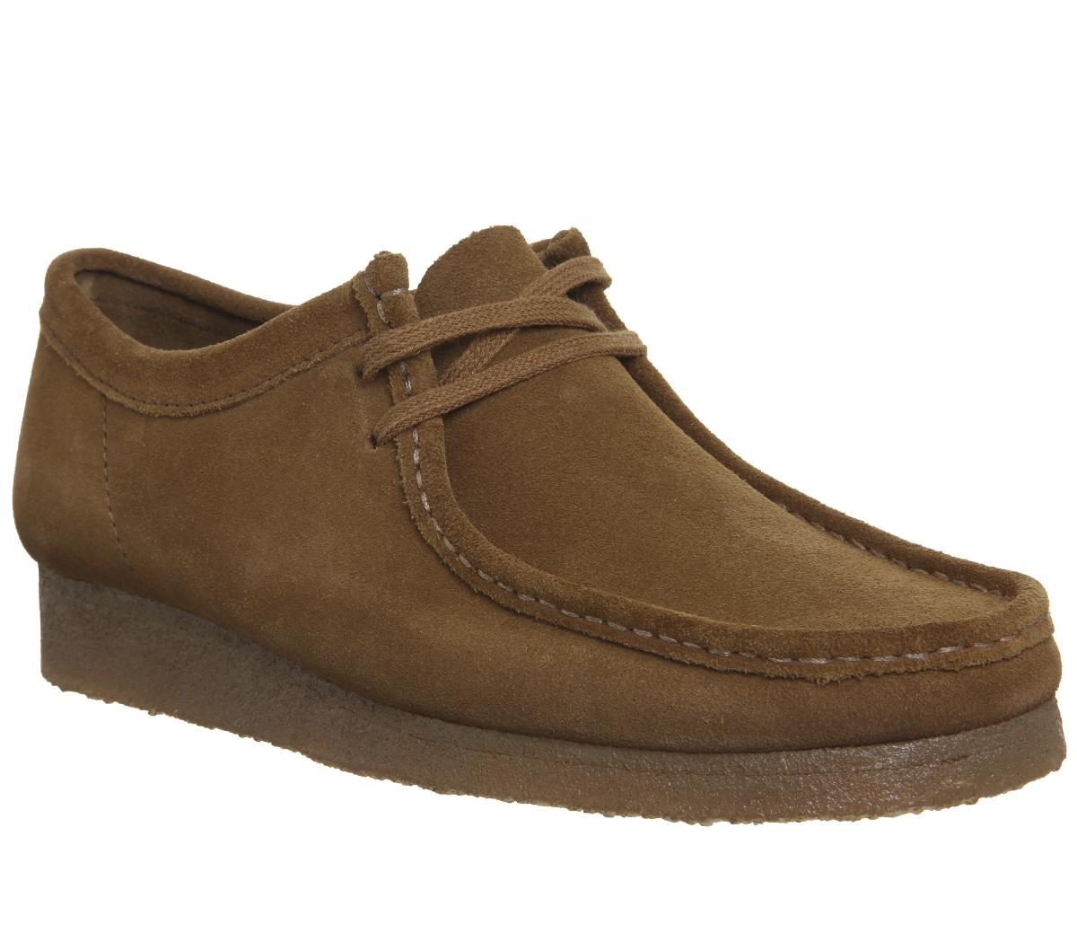 58bb1d38cb2 Mens Clarks Wallabee Shoe Cola Suede New Uk Size 9